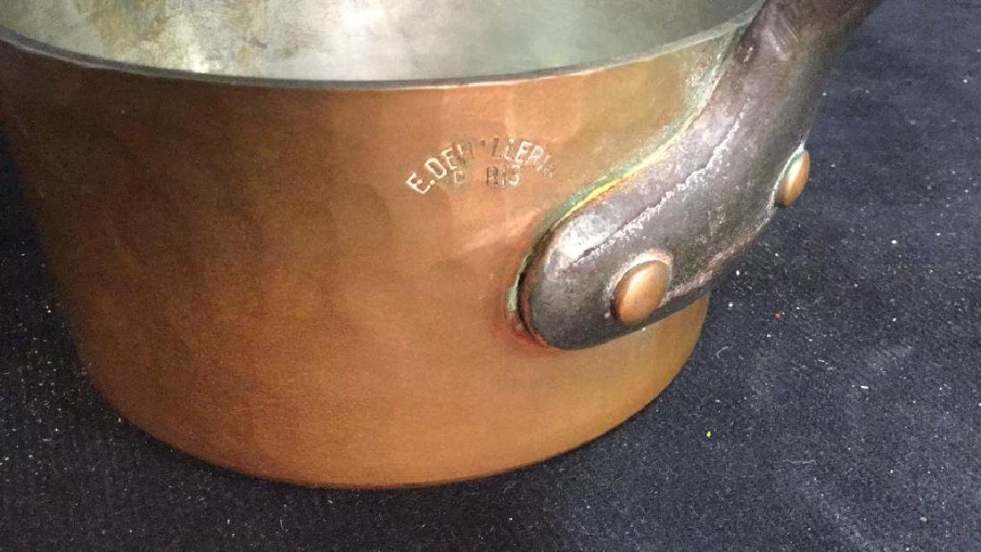 French Copper and Cast Iron Pot - 4