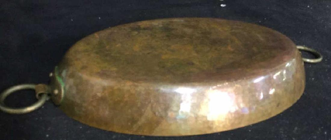Double Ring Handled French Copper Pot