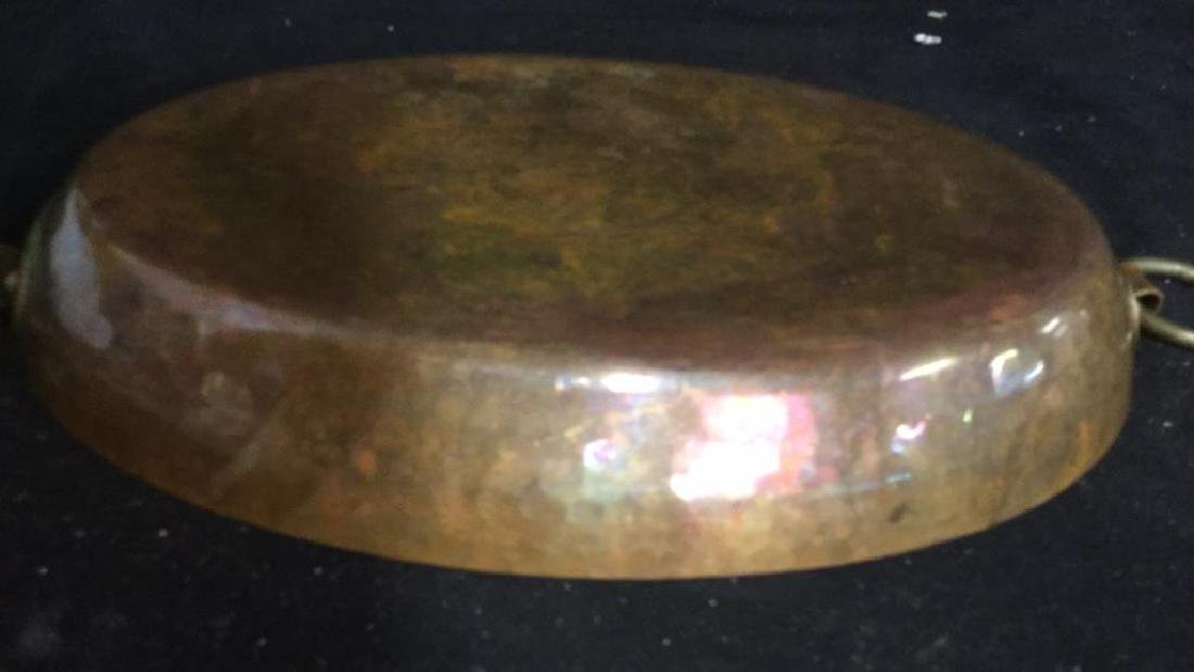 Double Ring Handled French Copper Pot - 3