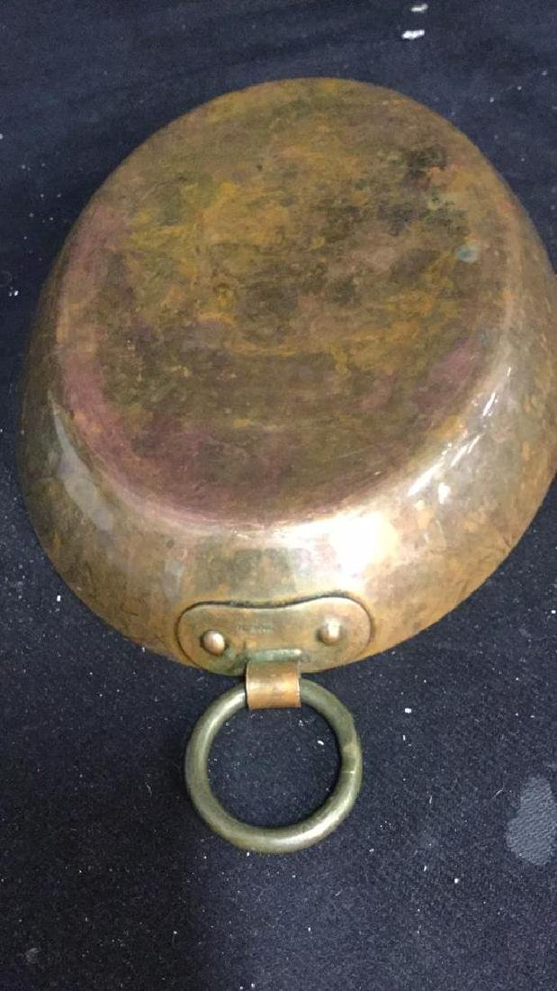 Double Ring Handled French Copper Pot - 6