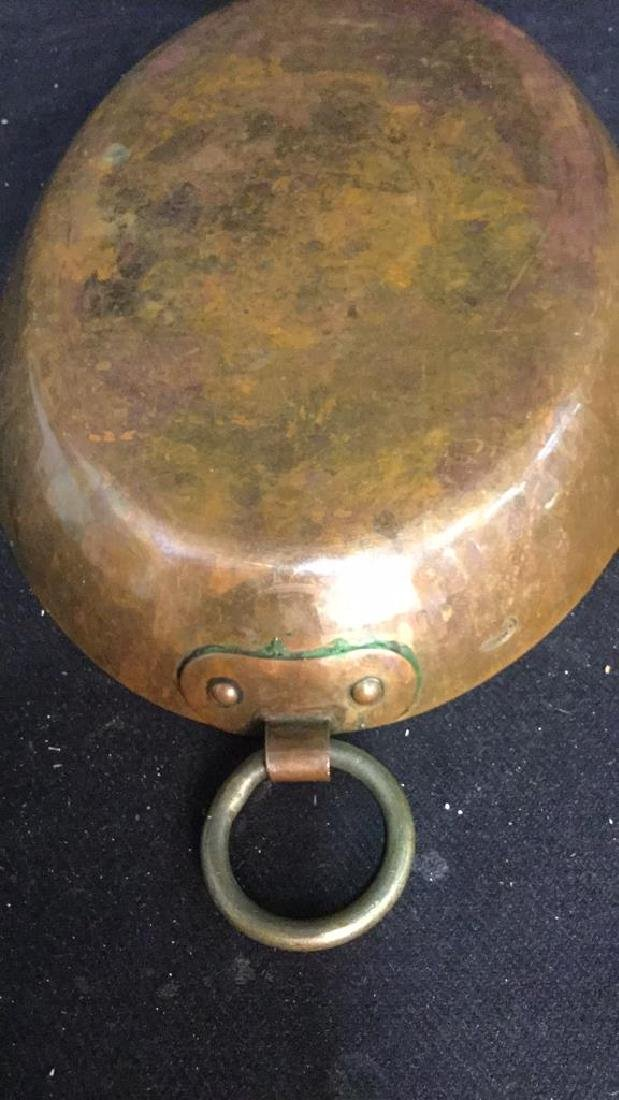 Double Ring Handled French Copper Pot - 7