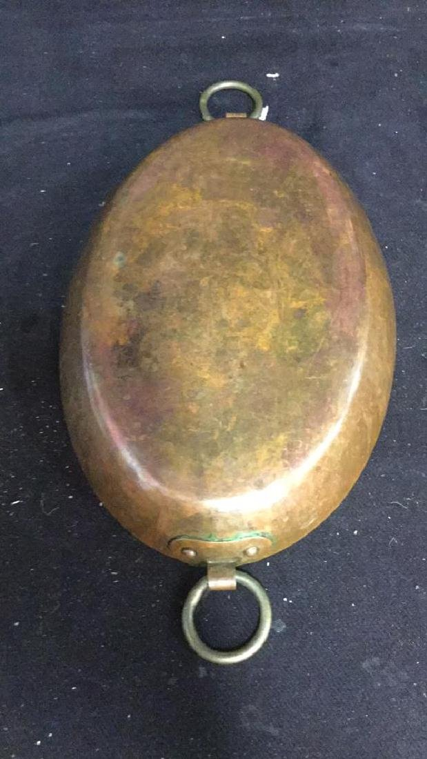 Double Ring Handled French Copper Pot - 8