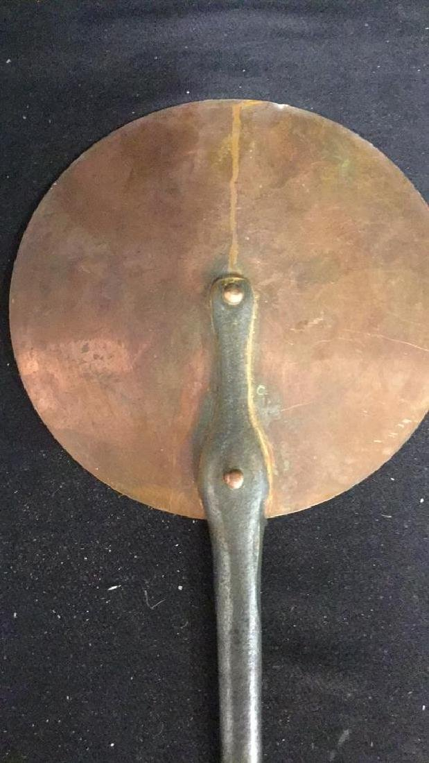 French Copper and Iron Flat Pan - 2