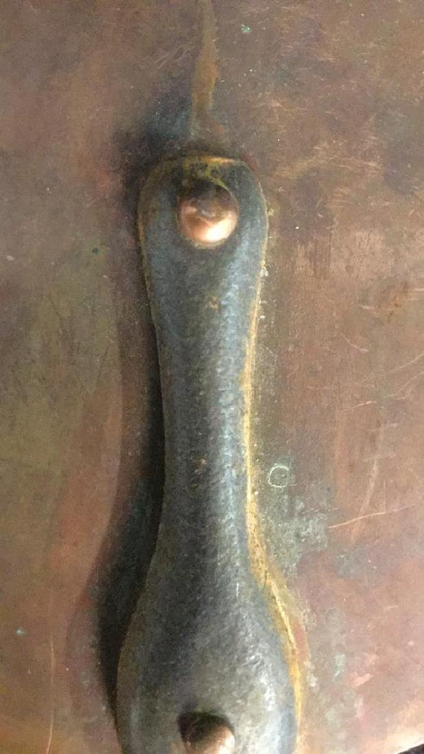 French Copper and Iron Flat Pan - 4