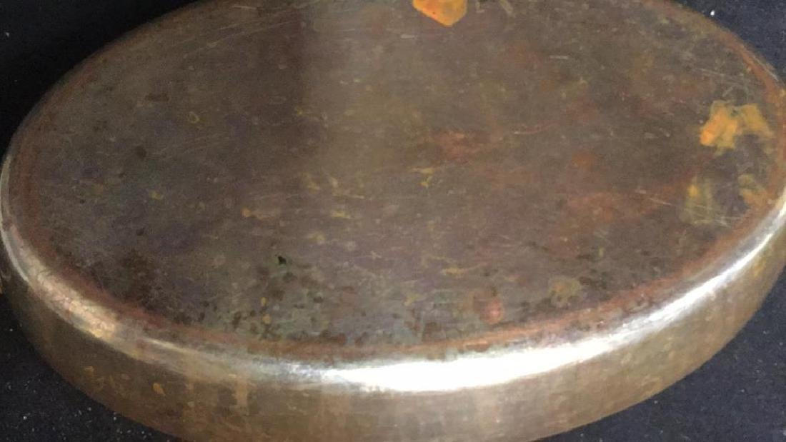 French Copper Oval Double Ring Pan - 9