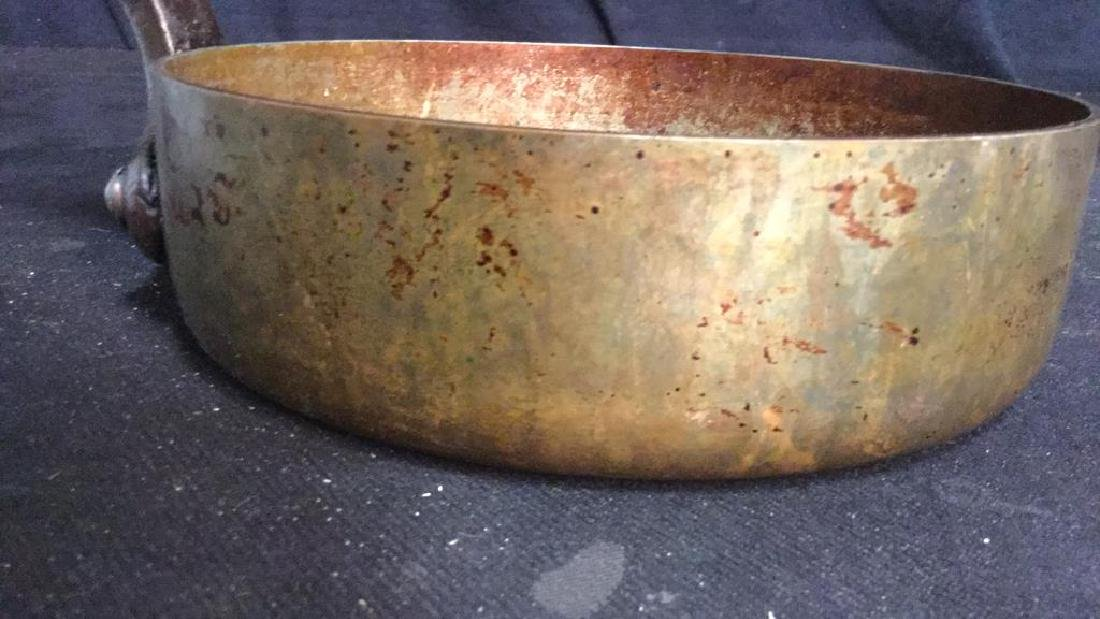 French Copper and Iron Cooking Pot - 2
