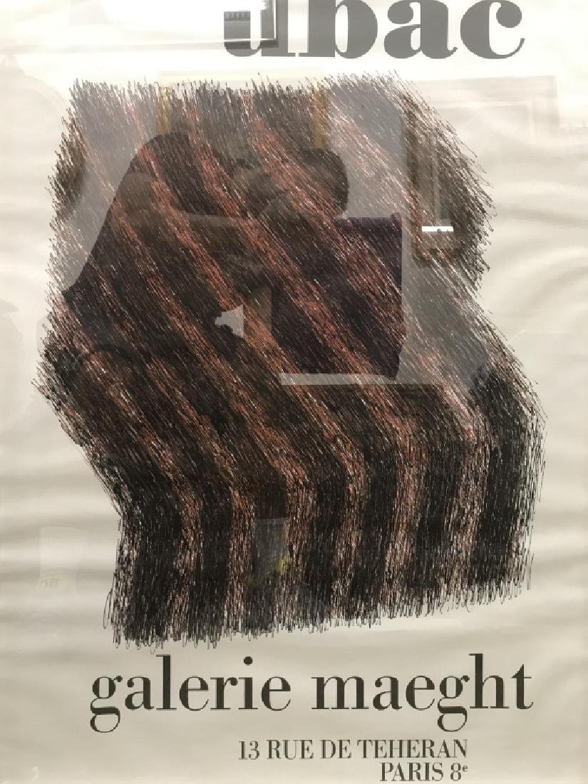 UBAC GALERIA MAEGHT Framed Poster - 2