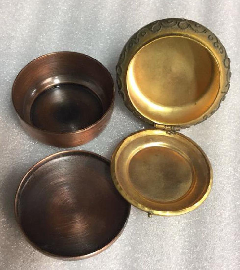Two Metal and hand artwork pill Boxes - 3