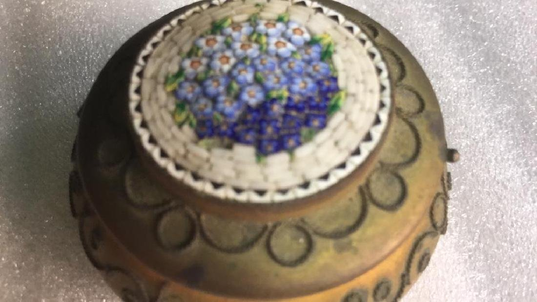 Two Metal and hand artwork pill Boxes - 7