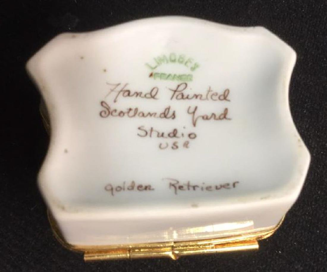 Limoges France Dog Themed Pill Box - 7