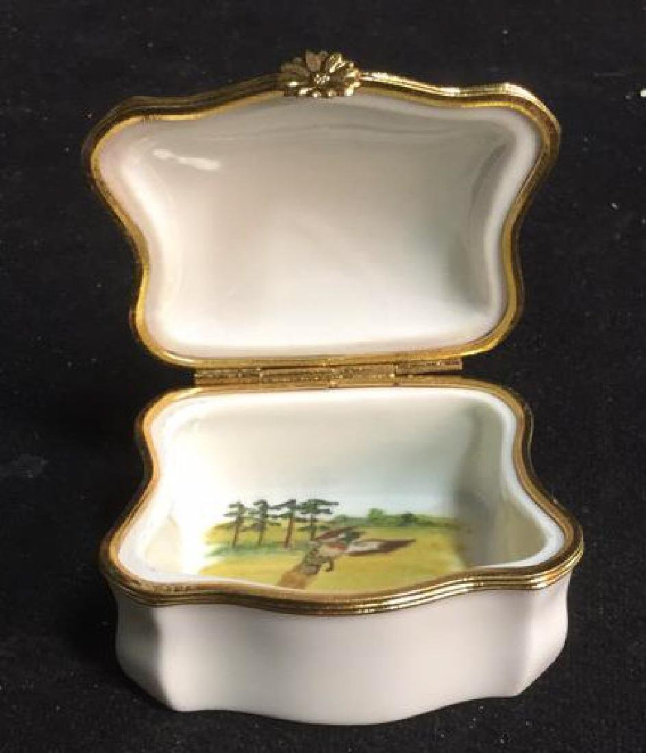 Limoges France Dog Themed Pill Box - 8