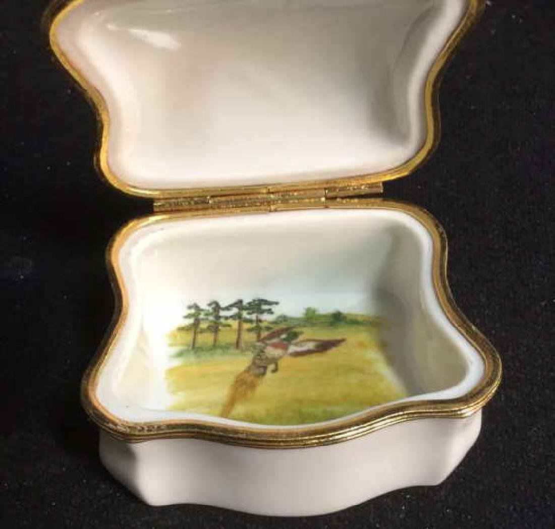 Limoges France Dog Themed Pill Box - 9