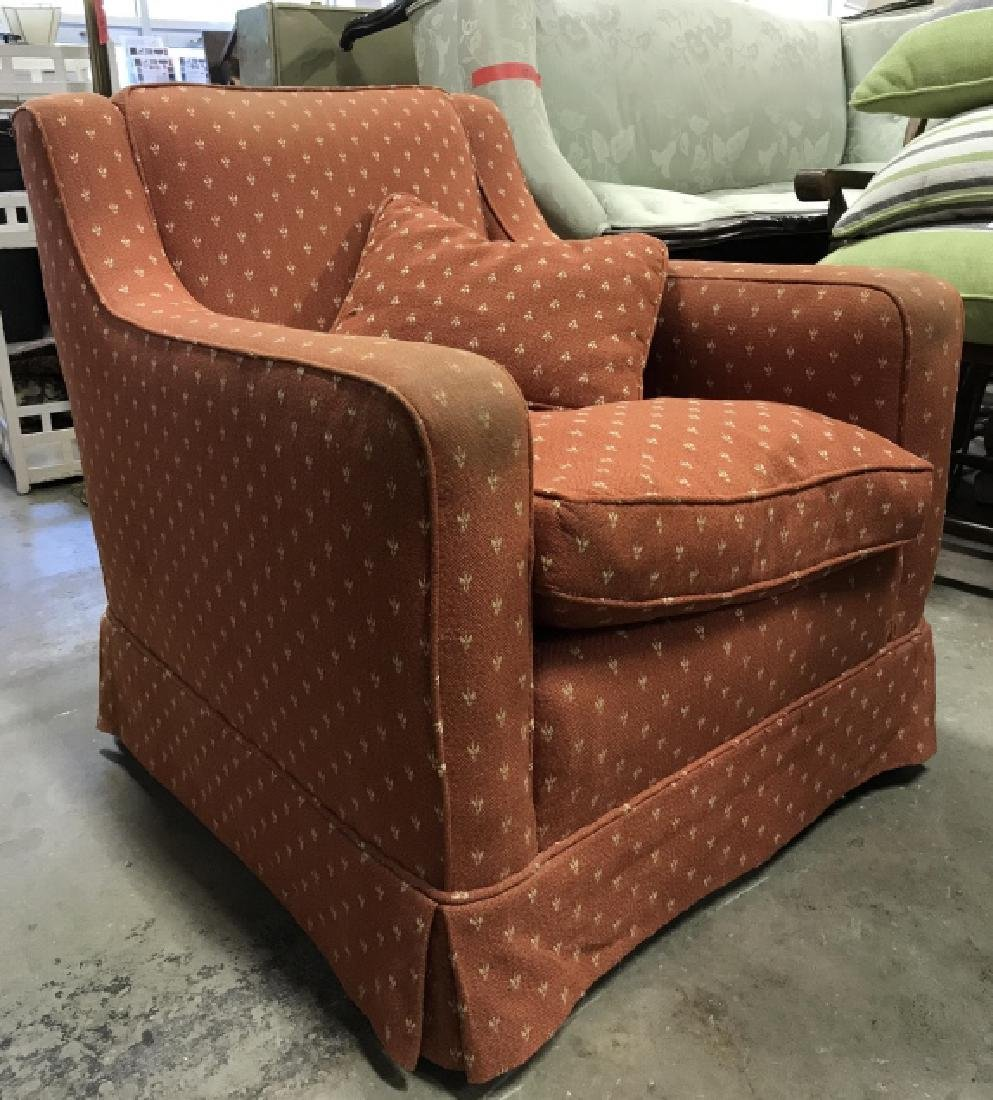 Lot 2 Orange Toned Upholstered Arm Chairs - 4