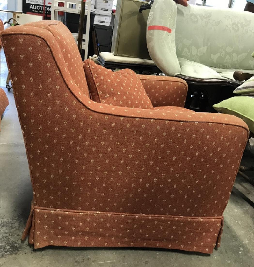 Lot 2 Orange Toned Upholstered Arm Chairs - 5