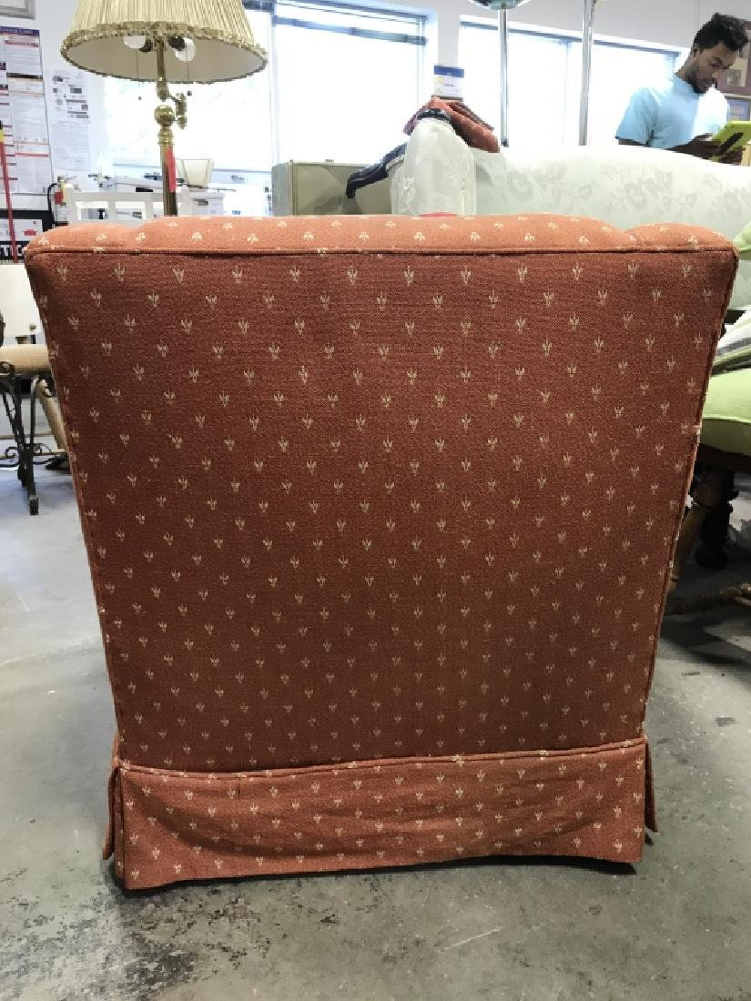 Lot 2 Orange Toned Upholstered Arm Chairs - 6