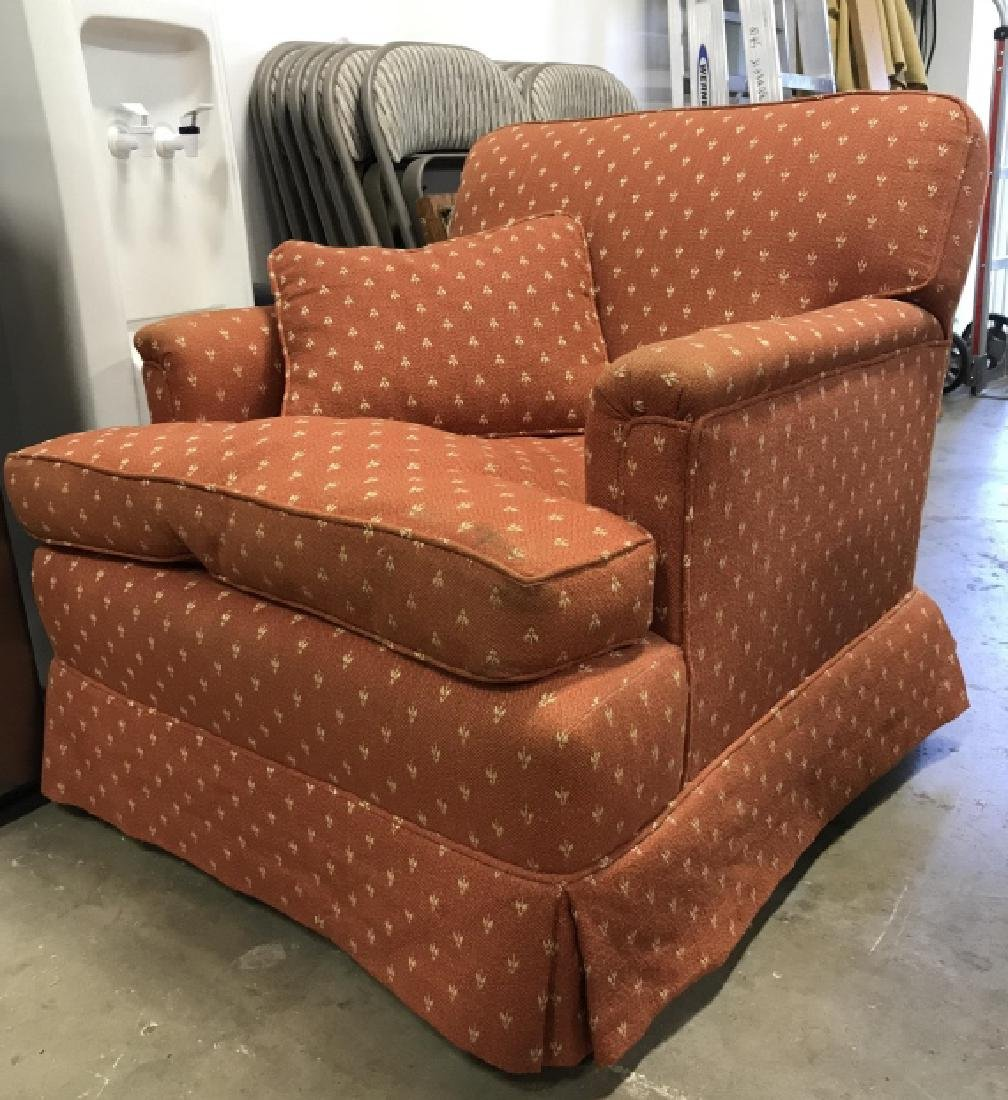 Lot 2 Orange Toned Upholstered Arm Chairs - 7