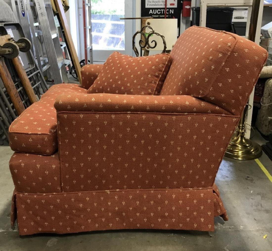 Lot 2 Orange Toned Upholstered Arm Chairs - 8