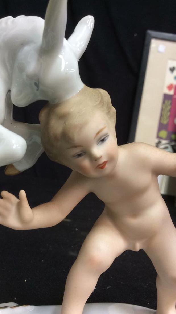 German Porcelain Boy with Goat - 5
