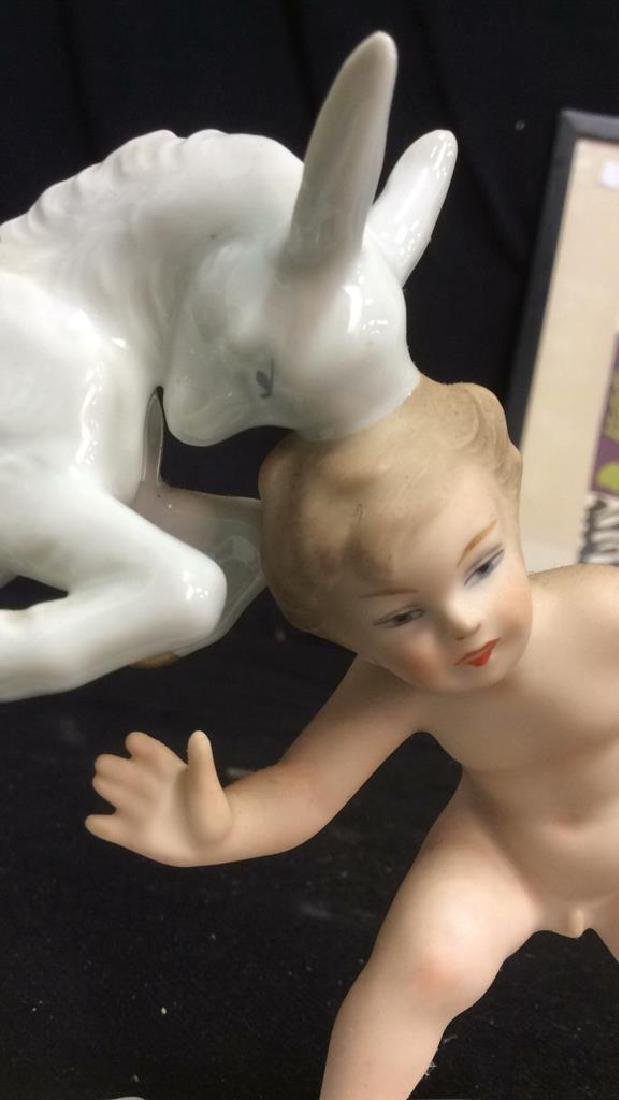 German Porcelain Boy with Goat - 6