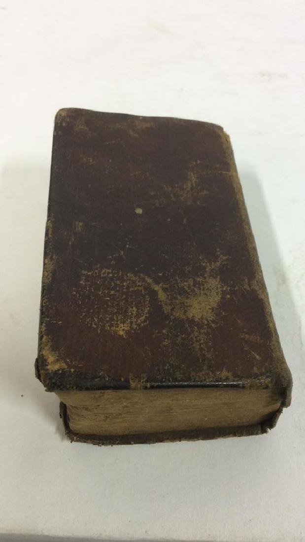 Antique Tiny Leather Bible, 1823 - 6
