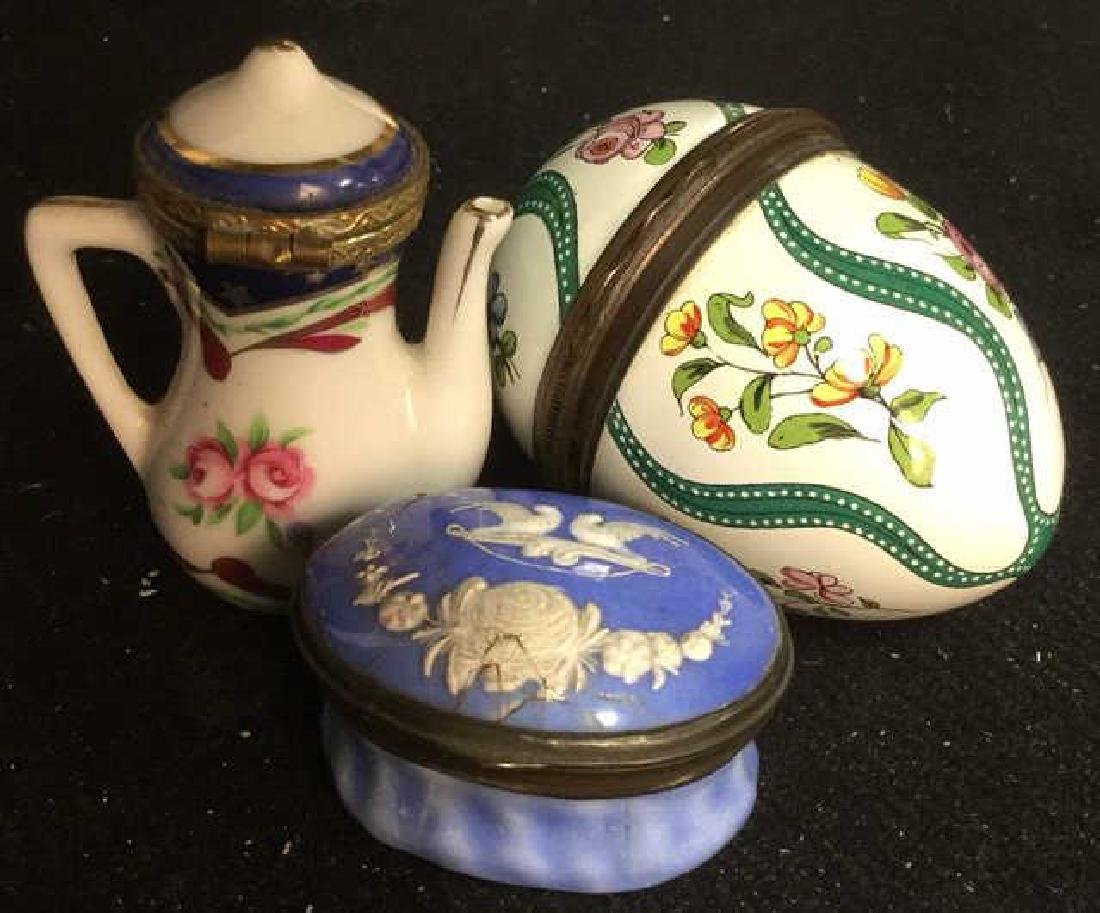 Group 3 Porcelain Lidded Pill Boxes