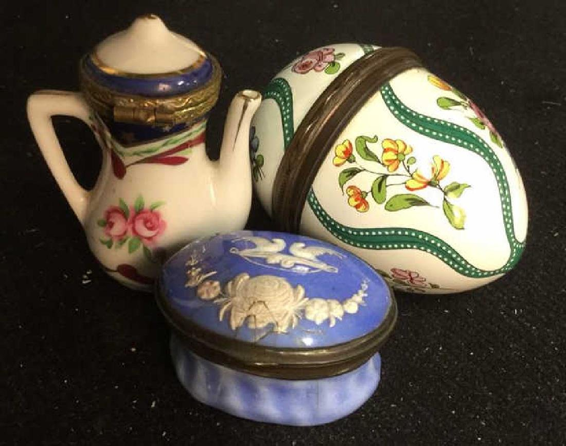 Group 3 Porcelain Lidded Pill Boxes - 2