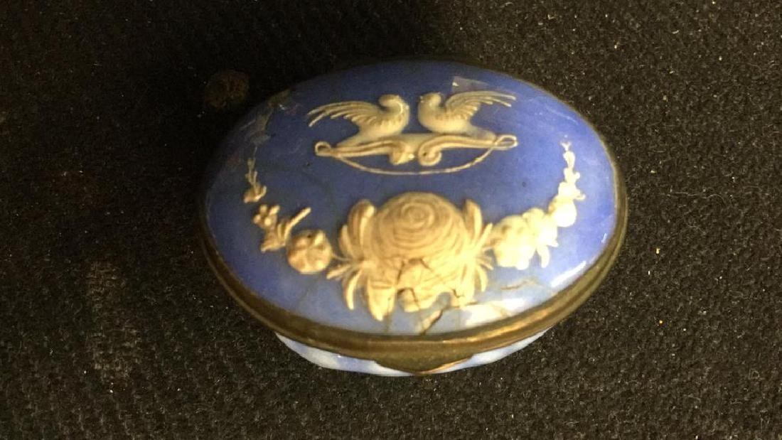 Group 3 Porcelain Lidded Pill Boxes - 9