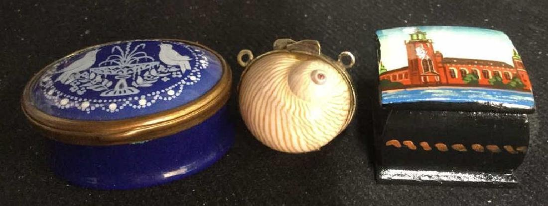 Group 3 Hinged lidded pill Boxes,