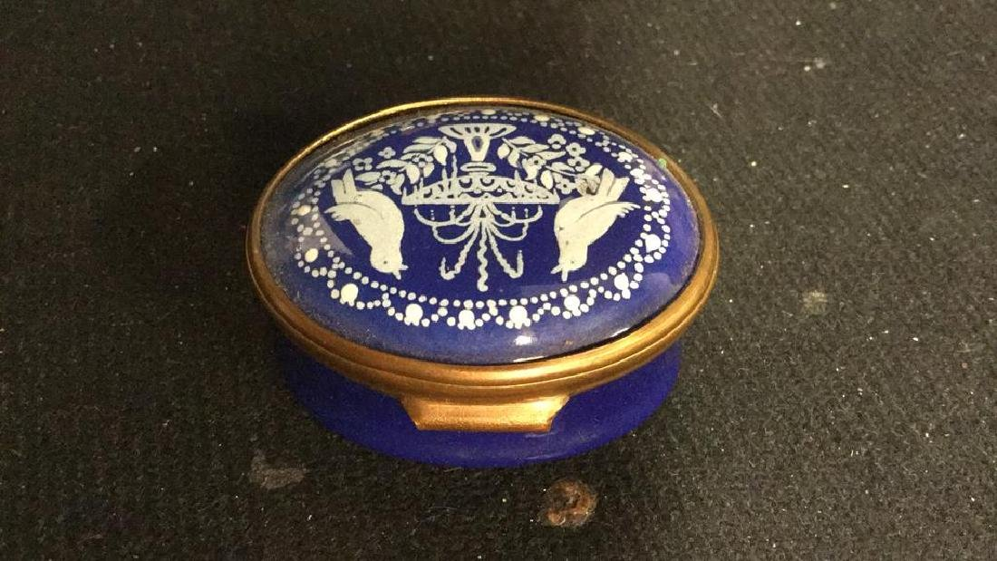 Group 3 Hinged lidded pill Boxes, - 5