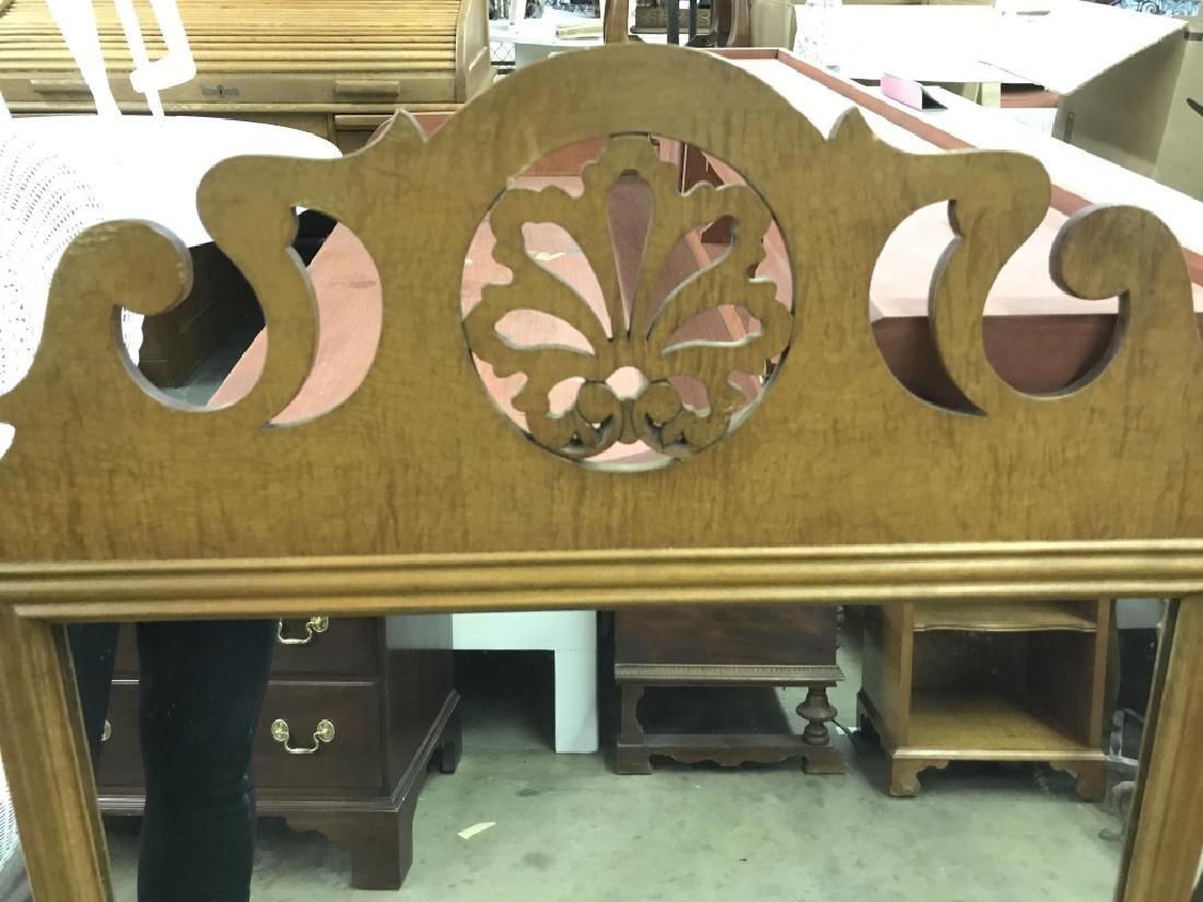 Vintage Carved Wood Frame Mirror