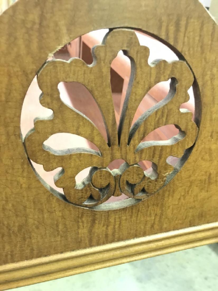 Vintage Carved Wood Frame Mirror - 4
