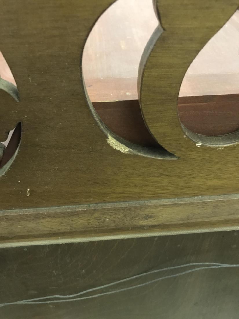 Vintage Carved Wood Frame Mirror - 6