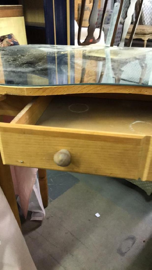 Skirted Vanity Table W Mirror Top - 10