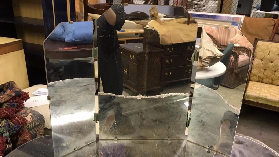 Skirted Vanity Table W Mirror Top - 2