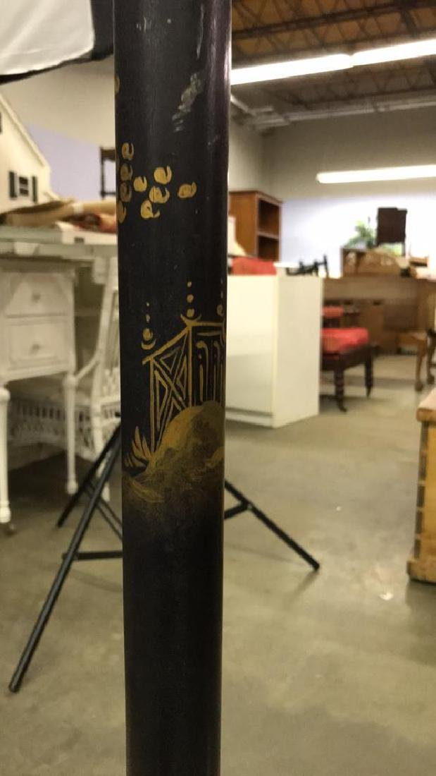 Black and Gold Chinoiserie Floor Lamp - 9