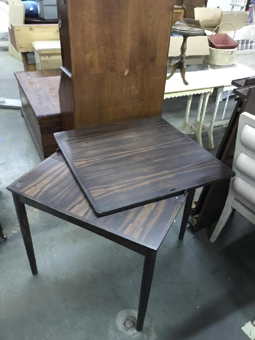 Wooden Folding Card Table Set - 10