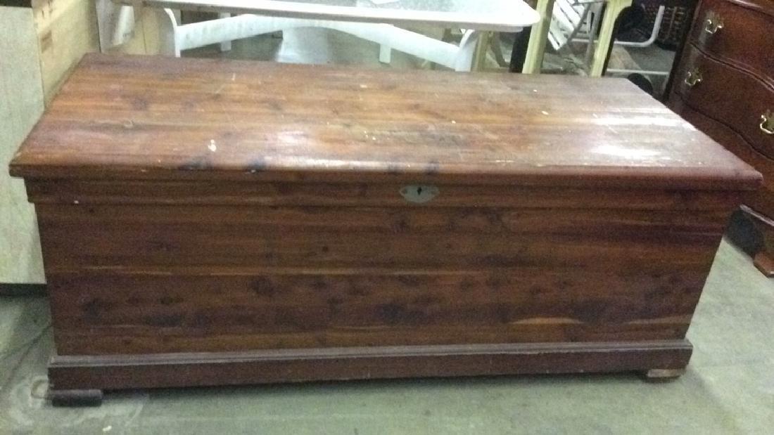 Vintage LEWIS & CONGER Wooden Chest