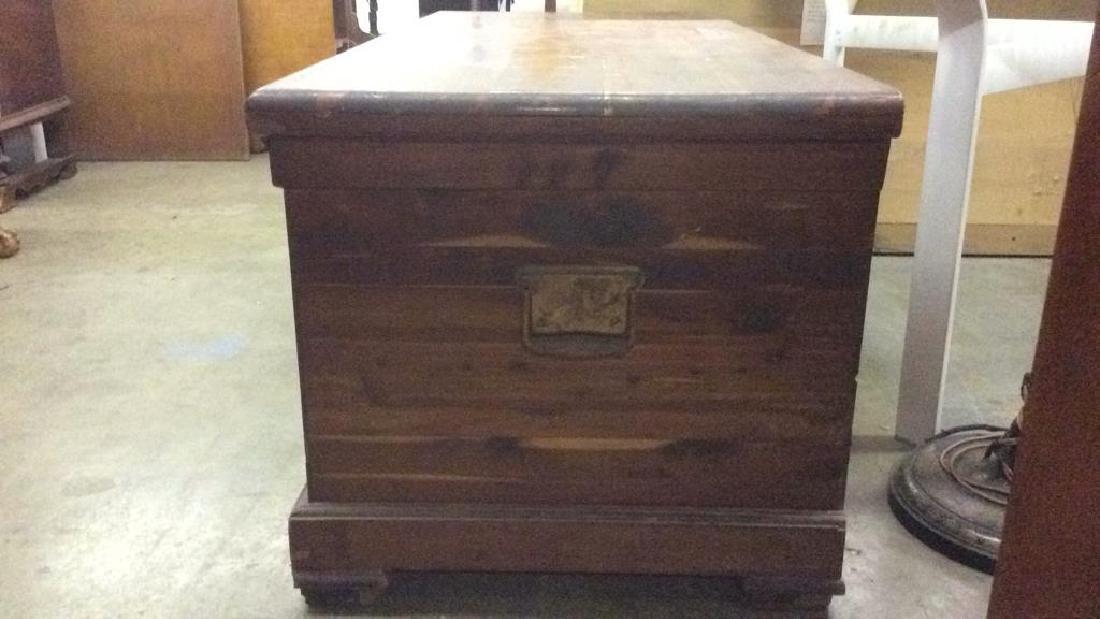 Vintage LEWIS & CONGER Wooden Chest - 6