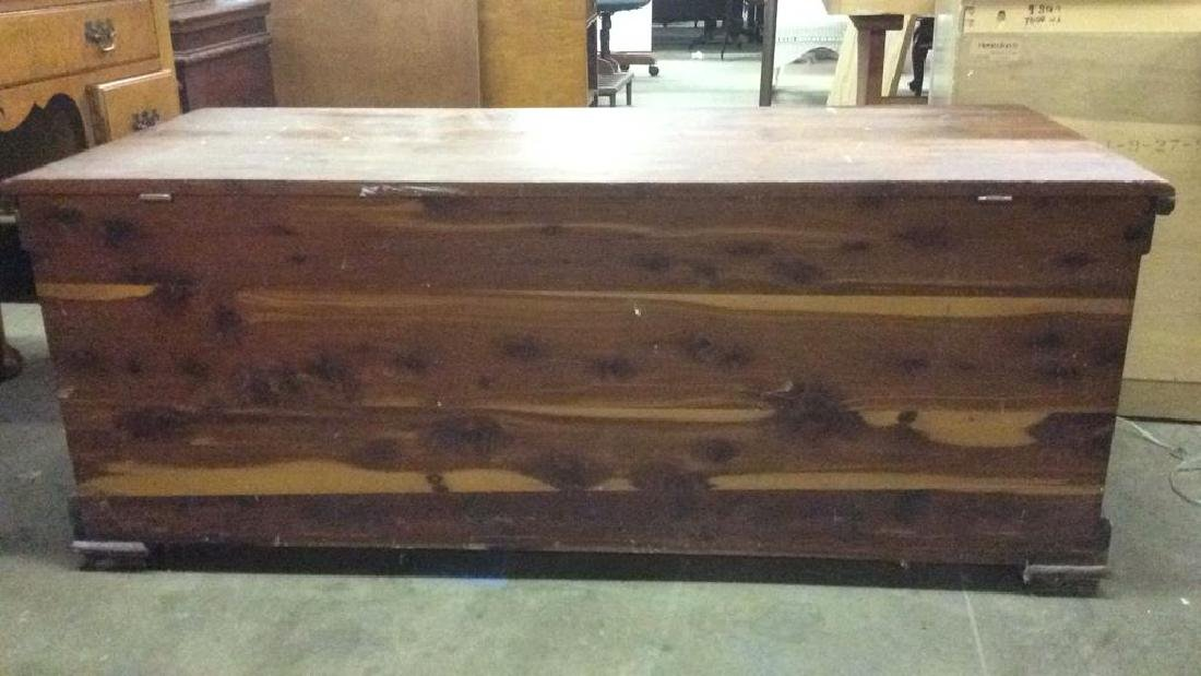 Vintage LEWIS & CONGER Wooden Chest - 7