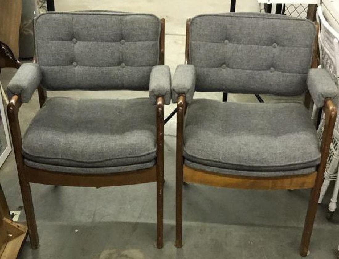 Pr Mid Century Danish Modern Arm Chairs