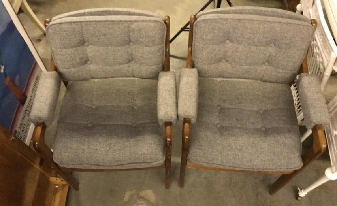 Pr Mid Century Danish Modern Arm Chairs - 3