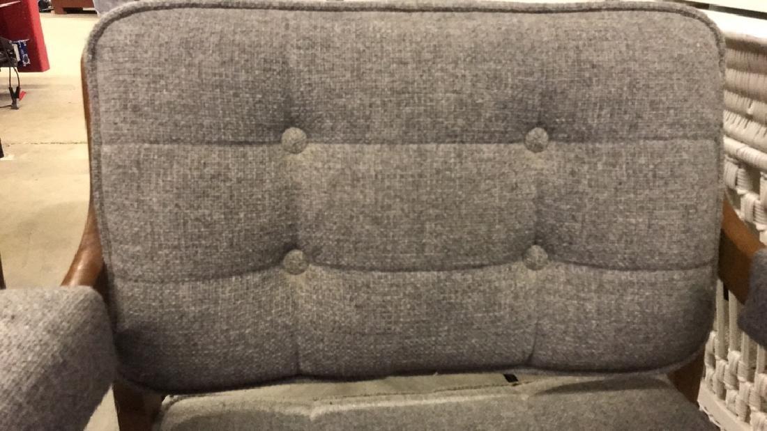 Pr Mid Century Danish Modern Arm Chairs - 4
