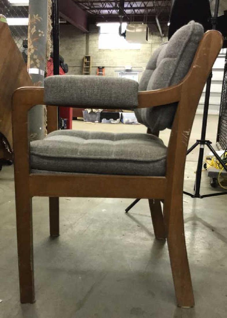 Pr Mid Century Danish Modern Arm Chairs - 6