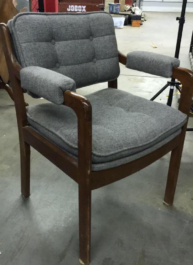 Pr Mid Century Danish Modern Arm Chairs - 9