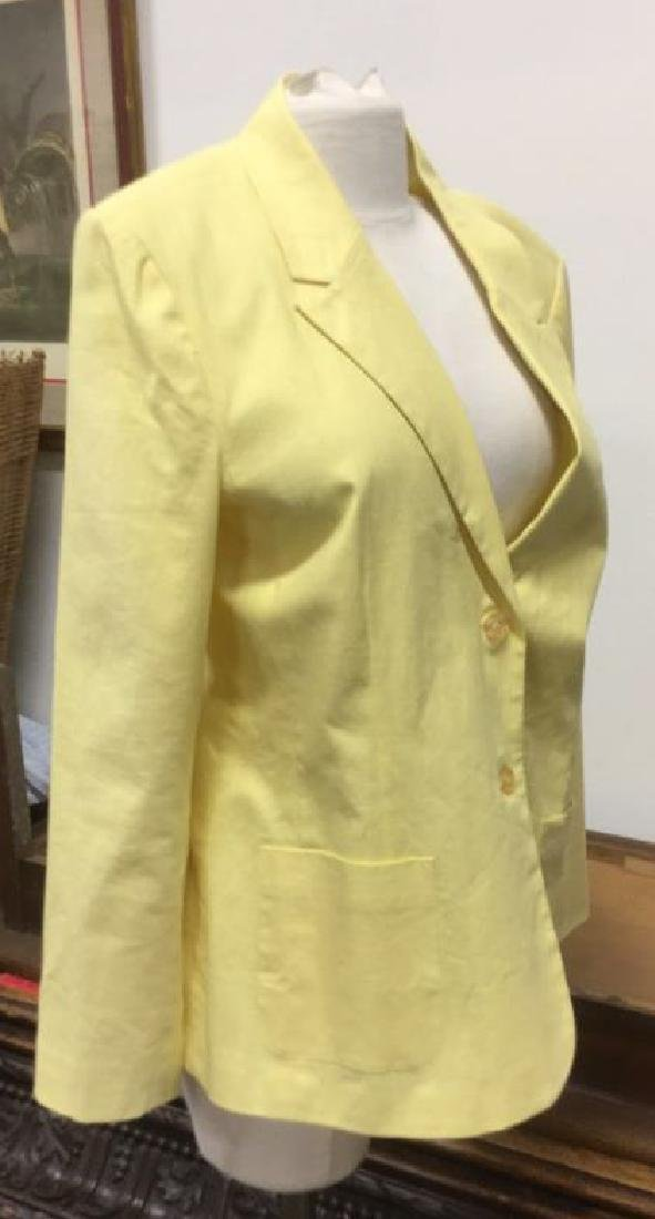Yellow Toned Jacket with Padded Shoulders