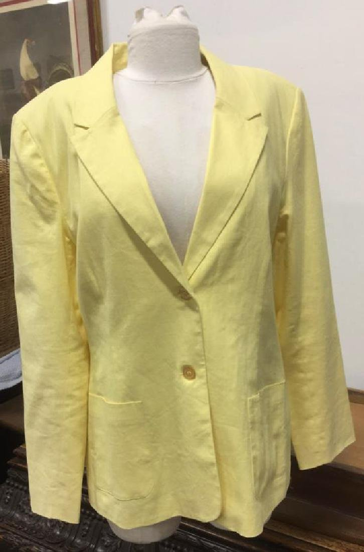 Yellow Toned Jacket with Padded Shoulders - 2