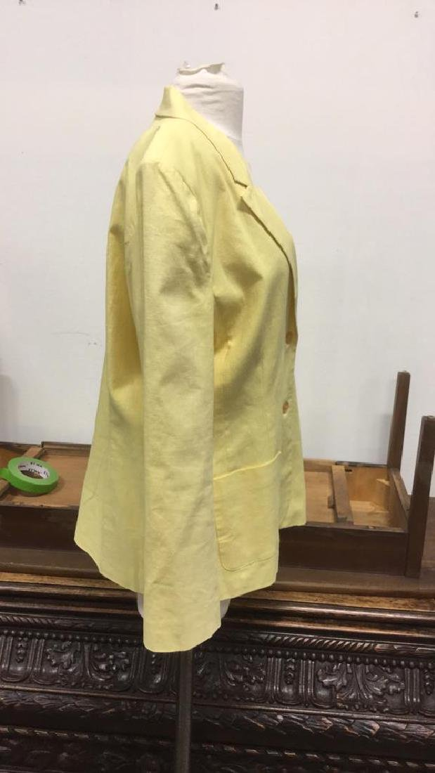 Yellow Toned Jacket with Padded Shoulders - 3