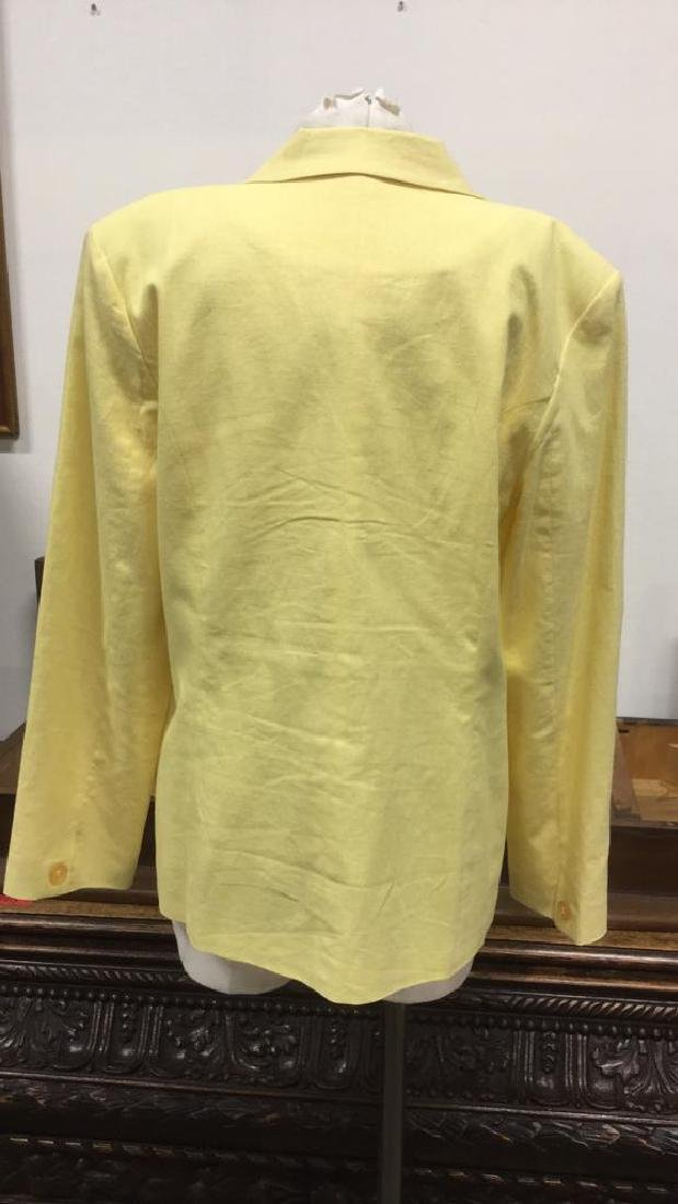 Yellow Toned Jacket with Padded Shoulders - 4
