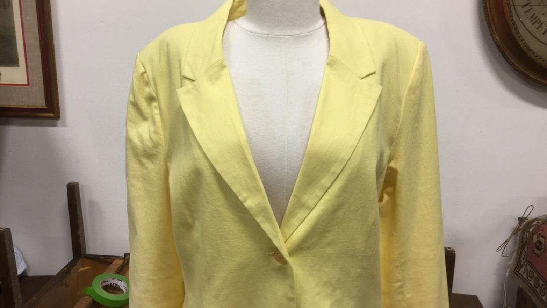 Yellow Toned Jacket with Padded Shoulders - 6