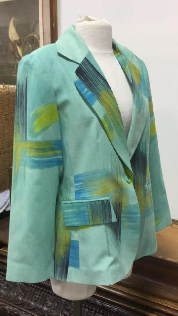 Size Medium Green Blue and Yellow Toned Jacket